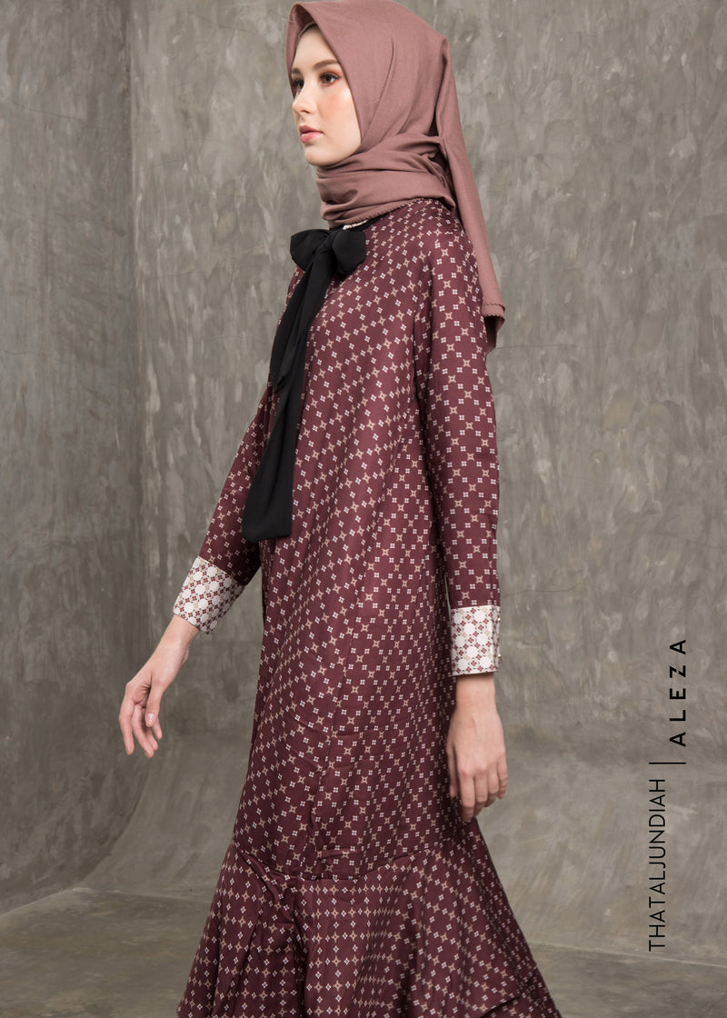 Thalia Dress Maroon