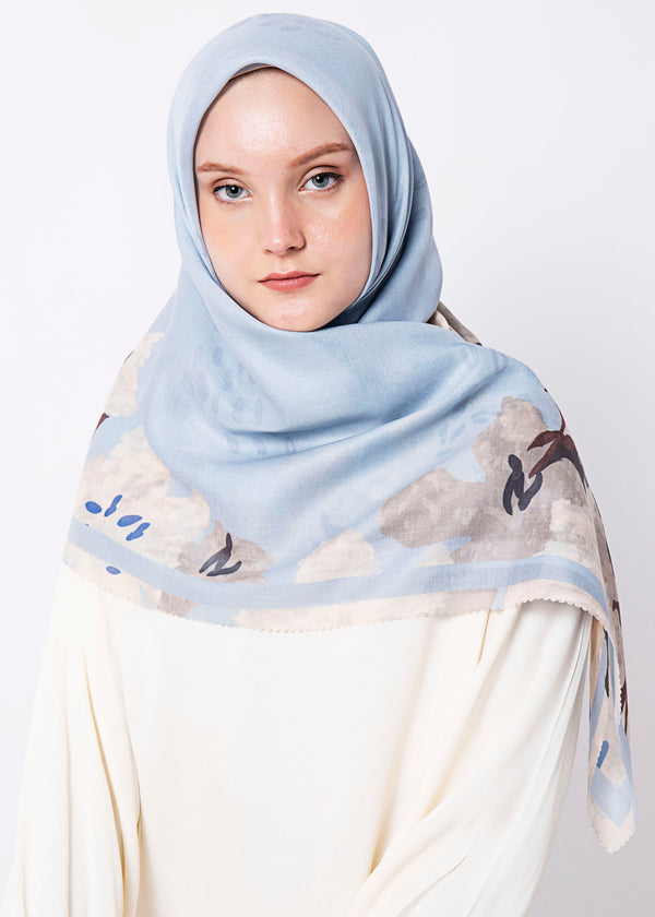 Kalira Scarves Soft Blue