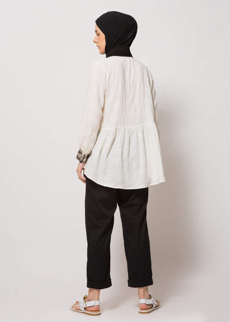 Ghania Top Broken White