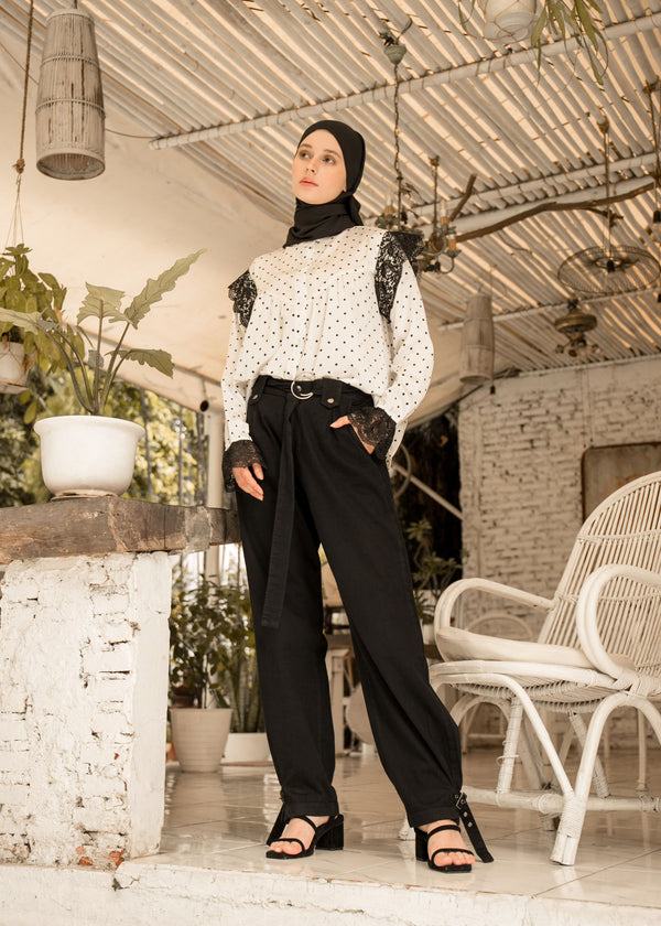 Giana Denim Pants Black