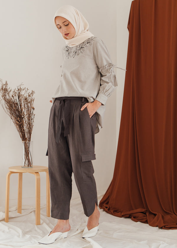 Revina Pants Dark Gray