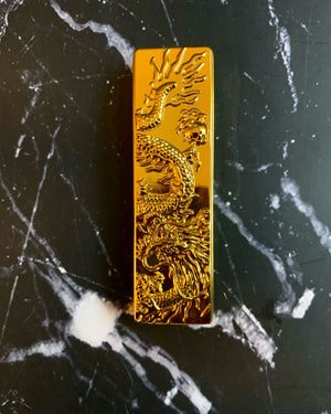 Refillable Gold plated Dragon torch lighter