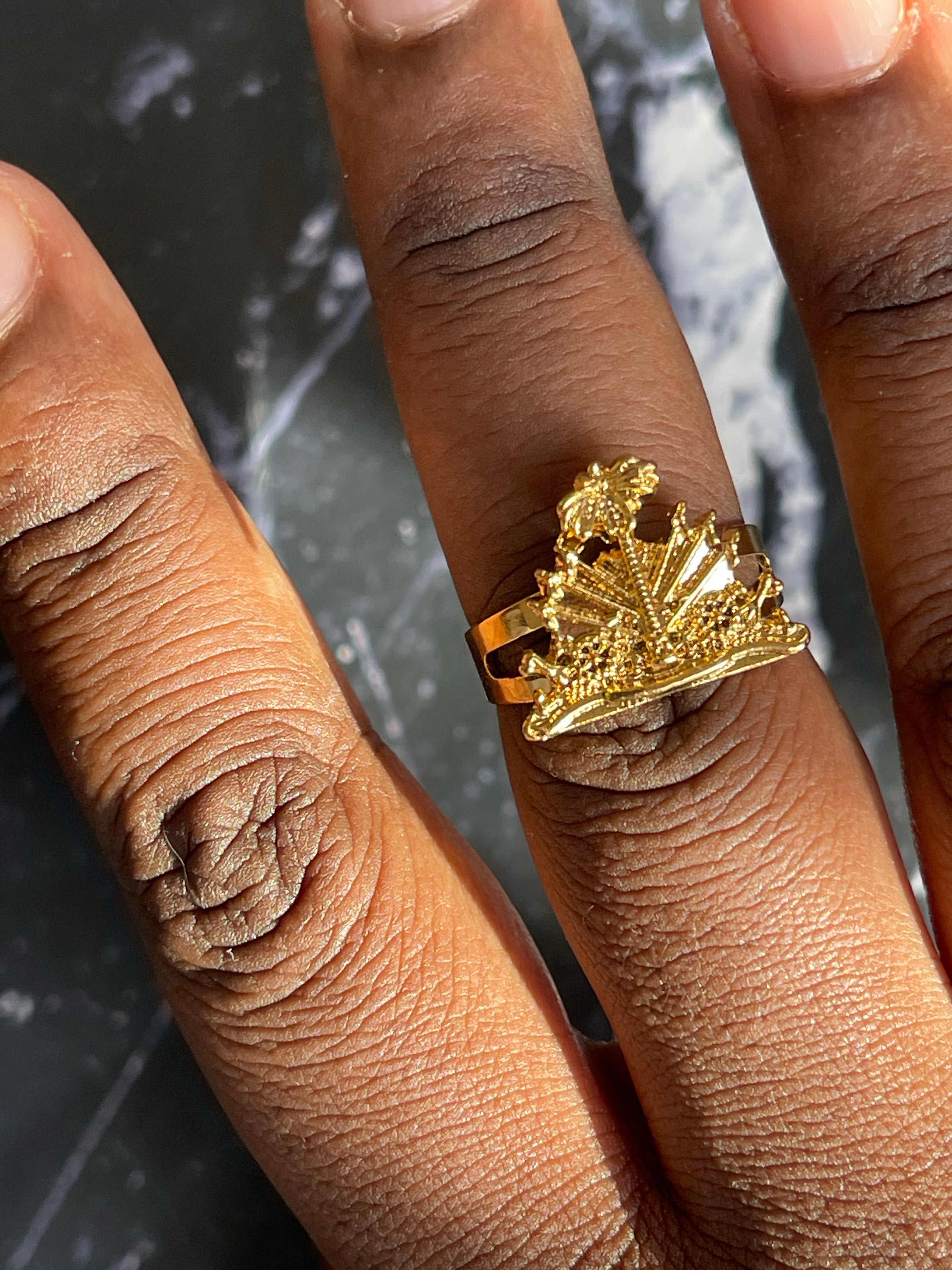 Haiti coat of arms Ring
