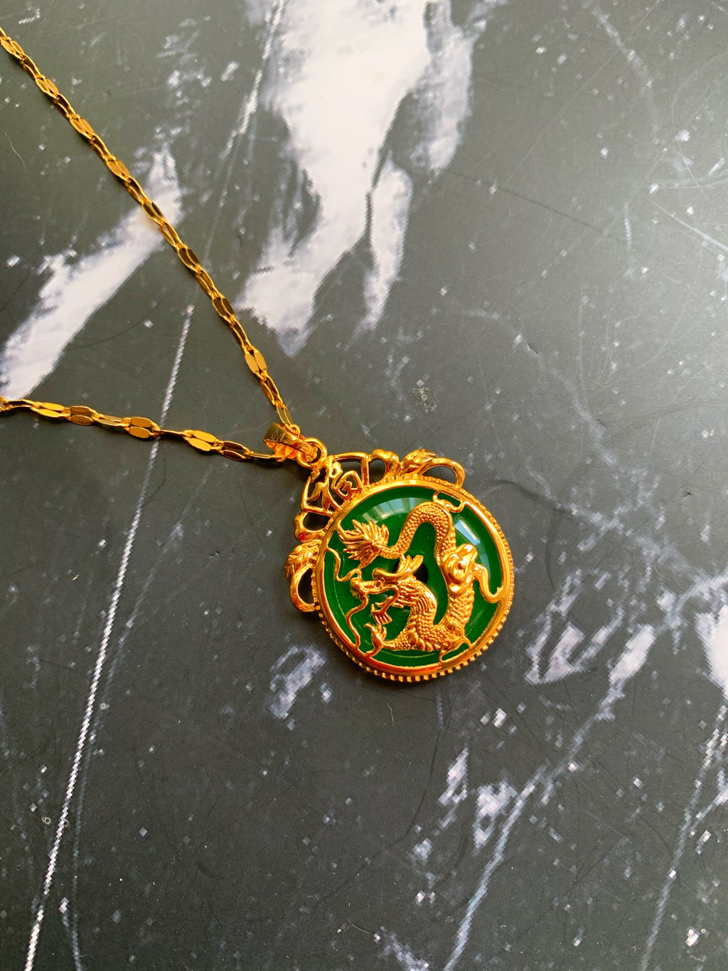 Imperial Jade Dragon Medallion