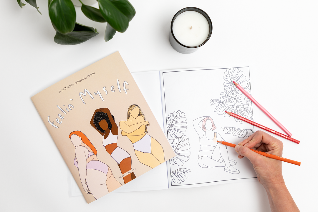 """feelin' myself"" coloring book"