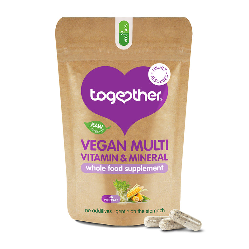 Together - Vegan Multi Vitamin & Mineral Whole Food Supplement (60caps)