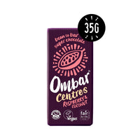 Ombar - Centres, Raspberry & Coconut Raw Dark Chocolate (35g)