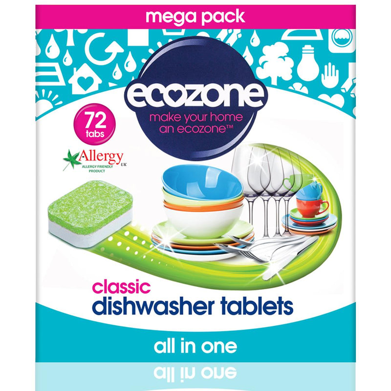 Ecozone - Classic Allergy Friendly Dishwasher Tablets - All in One (72tabs)