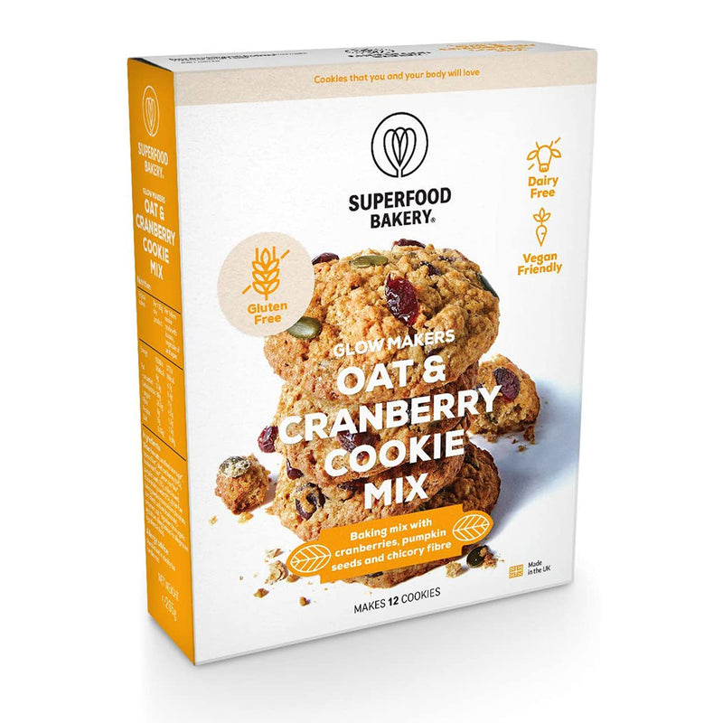 Superfood Bakery - Glow Makers Oat & Cranberry Cookie Mix (280g)