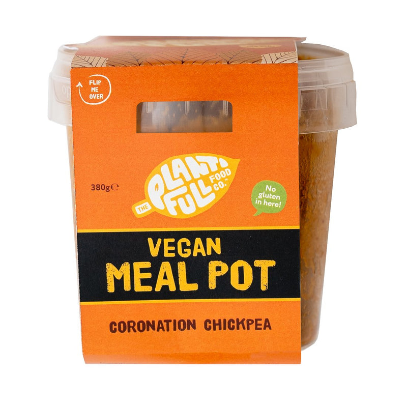 The Plantifull Food Co - Coronation Chickpea - 5-a-day pot (380g)
