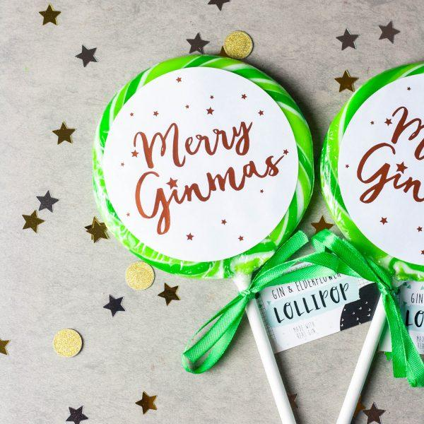 "Holly's Lollies ""Merry Ginmas"" Lolly (85g) - TheVeganKind"