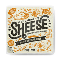 Bute Island Foods - 100% Dairy Free Sheese, Mature Cheddar Vegan Cheese Block (200g)