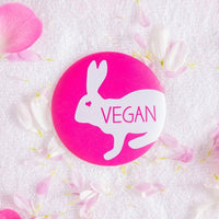 'Vegan' pink pocket mirror - TheVeganKind