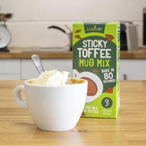 Baking - Baked In - Sticky Toffee Mug Cake Mix (3 Sachets) (150g)