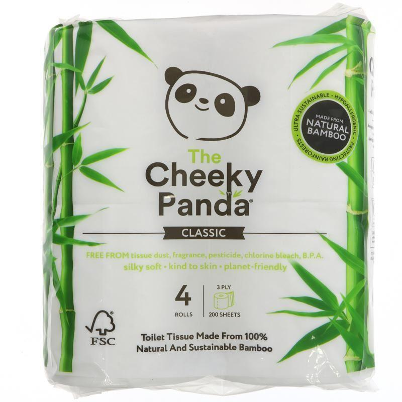 Bathroom Essentials - The Cheeky Panda - Natural Bamboo Toilet Tissue (4 Rolls)