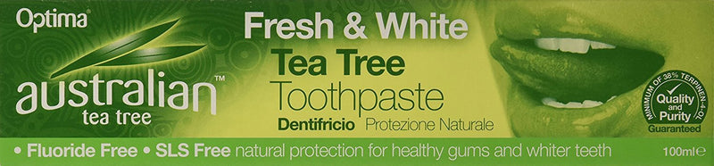 Bathroom - Optima Australian - Fresh & White Tea Tree Toothpaste (100ml)