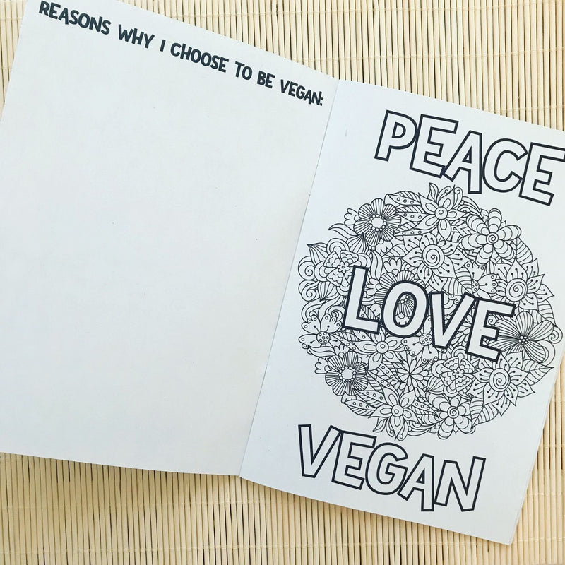 Books - Things I Care About - Peace Love Vegan Colouring Book