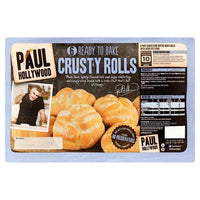 Bread & Rolls - Paul Hollywood - 6 Bake At Home Crusty White Rolls With Rye Flour 300g