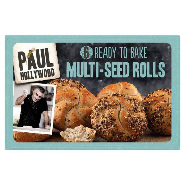 Bread & Rolls - Paul Hollywood - 6 Bake At Home Multi-Seeded Crusty Rolls 300g