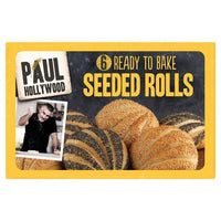 Bread & Rolls - Paul Hollywood - 6 Bake At Home Poppy & Sesame Seeded Crusty Rolls 300g