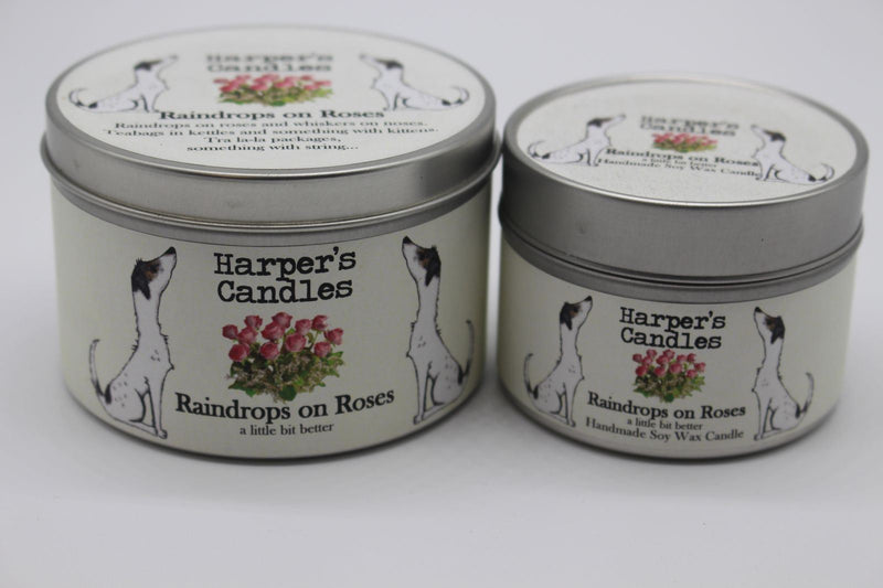 Candles - Harper's Candles - Floral Candle - Raindrops On Roses