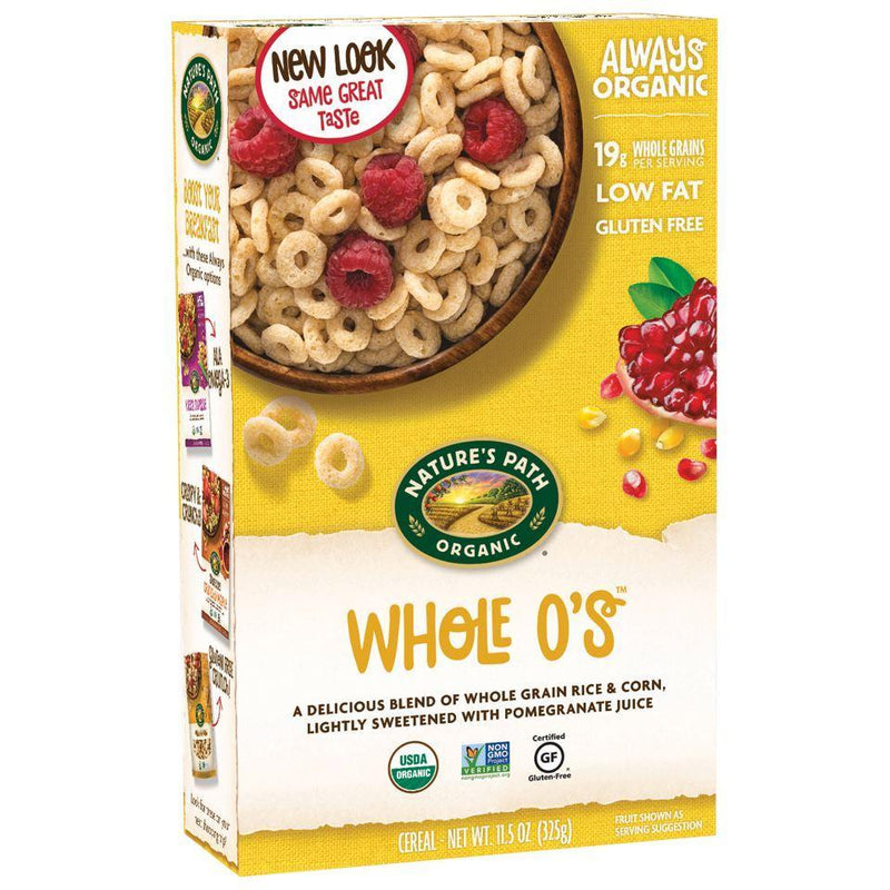 Cereals & Oats - Nature's Path - Organic Gluten Free Crunchy Whole O's (325g)