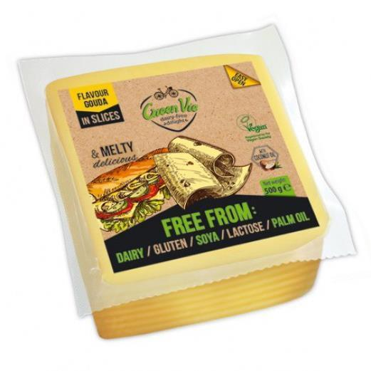 Cheeses - Green Vie - Vegan Cheese Slices - Gouda (500g)