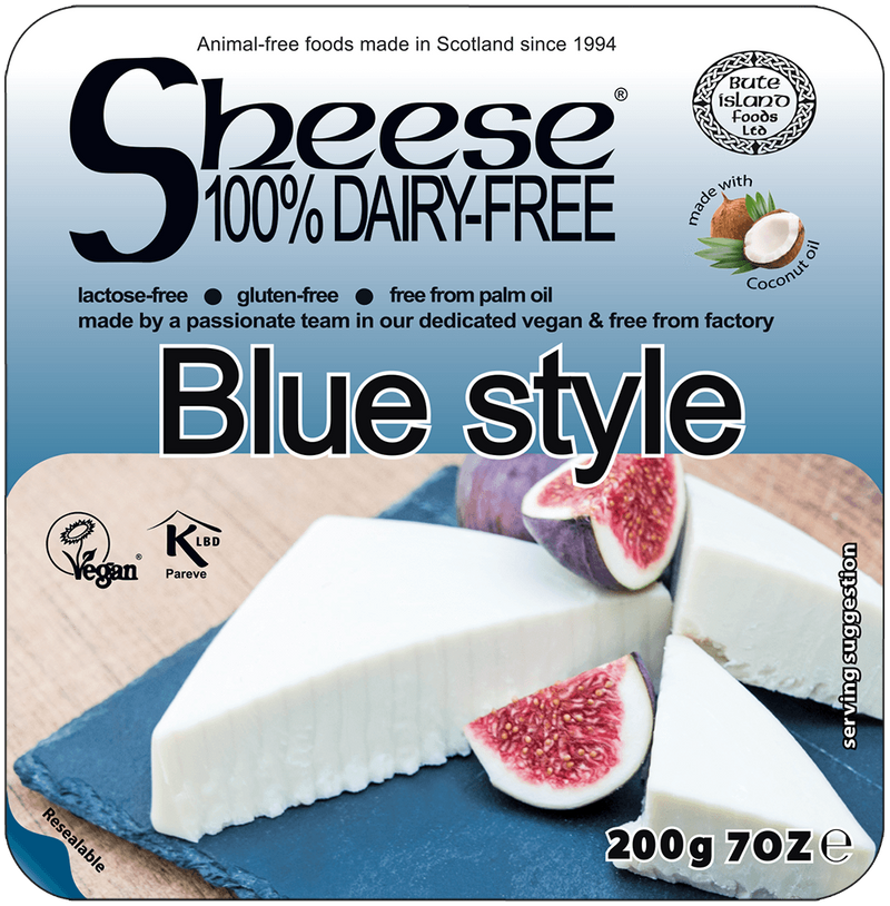 Cheeses - Sheese 100% Dairy Free Cheese - Blue Cheese Block (200g)