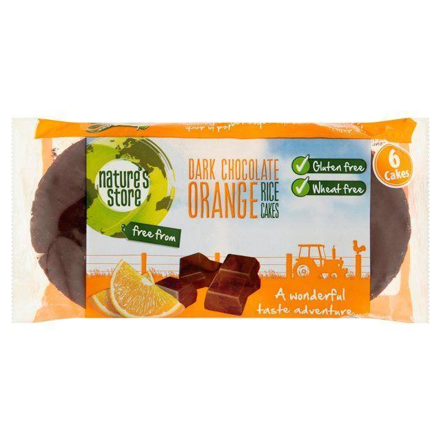 Chocolate Covered Snacks - Nature's Store - Dark Chocolate Orange Rice Cakes (100g)