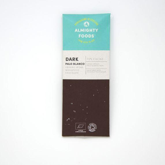 Chocolates/Bars - Almighty Foods - Organic Vegan Wholefood Chocolate - Dark Palo Blanco (30g)