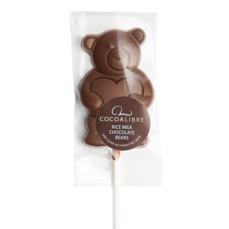Chocolates/Bars - Cocoa Libre - Rice Milk Chocolate Bear Lolly (20g)