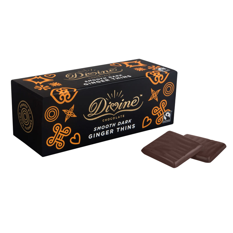 Chocolates/Bars - Divine - After Dinner, Dark Chocolate Ginger Thins (200g)