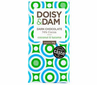 Chocolates/Bars - Doisy & Dam - Organic Coconut & Lacuma Dark Chocolate Bar (25g)