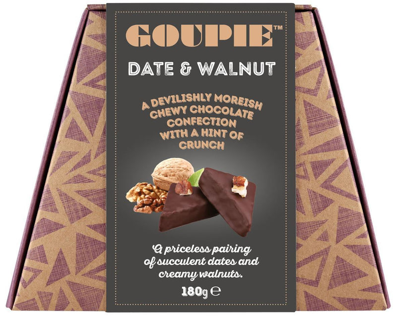 Chocolates/Bars - Goupie - Date & Walnut (Devilishly Moreish Chocolate Confection) (180g)
