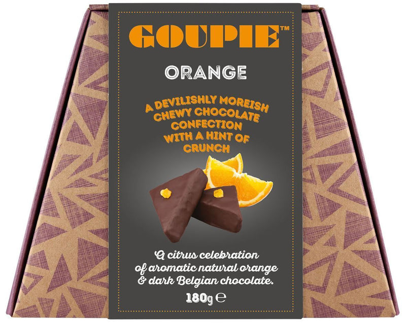Chocolates/Bars - Goupie - Orange (Devilishly Moreish Chocolate Confection) (180g)