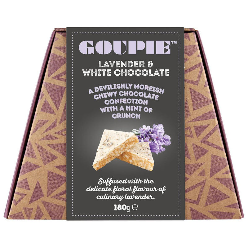 Chocolates/Bars - Goupie - White Lavender (Devilishly Moreish Chocolate Confection) (180g)