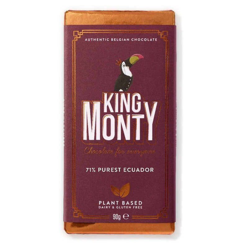 Chocolates/Bars - King Monty - 71% Purest Ecuador Bar (90g)
