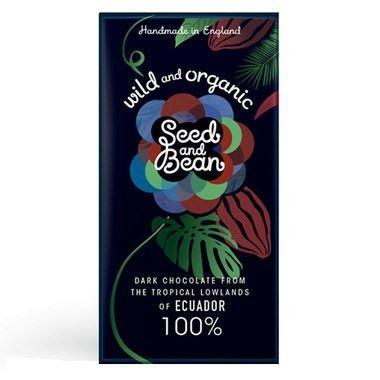 Chocolates/Bars - Seed And Bean Organic 100% Ecuadorean Dark Chocolate Bar