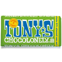 Chocolates/Bars - Tony's Chocolonley - 51% Fairtrade Dark Chocolate With Almonds & Sea Salt (180g)