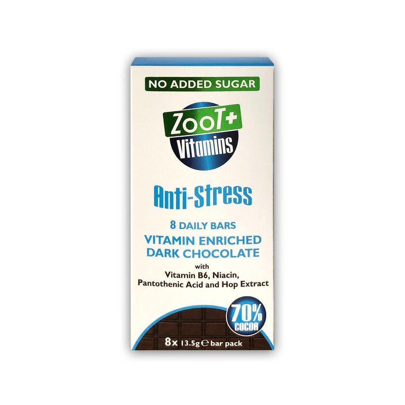 Chocolates/Bars - Zoot Froot - Zoot + Vitamins Anti-Stress Enriched Chocolate Bars (8x13.5g)