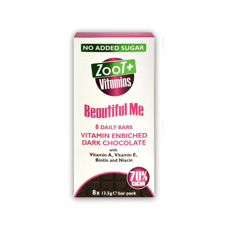 Chocolates/Bars - Zoot Froot - Zoot + Vitamins Beautiful Me Enriched Chocolate Bars (8x13.5g)