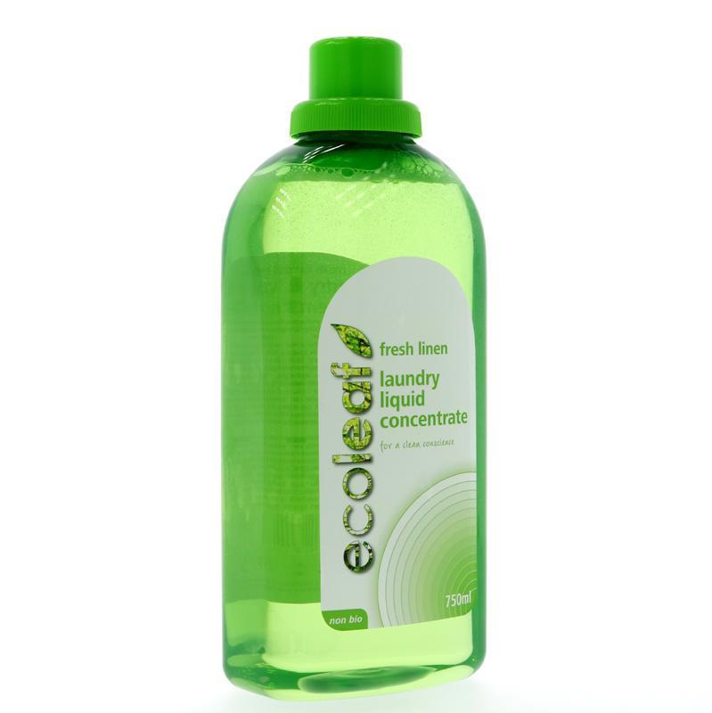 Ecoleaf Fresh Linen Laundry Liquid Concentrate (750ml) - TheVeganKind