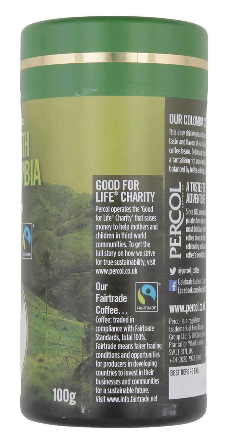 Coffees - Percol Smooth Colombia Instant Coffee (100g)