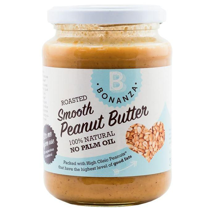 Condiments & Spreads - Bonanza - Smooth Peanut Butter - 99.5% Peanuts (palm Oil Free) (350g)