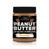 Condiments & Spreads - Buy One Get One Free! Tom Oliver Nutrition - High Protein Peanut Butter - Crunchy (400g)
