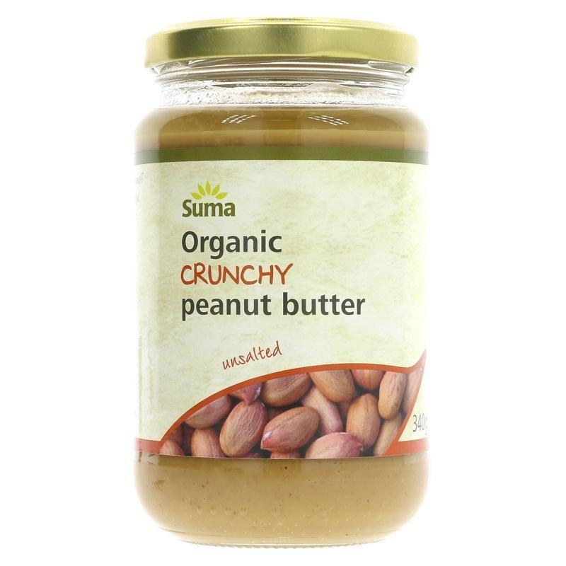 Condiments & Spreads - Suma - Organic Crunchy Peanut Butter - No Added Salt (340g)