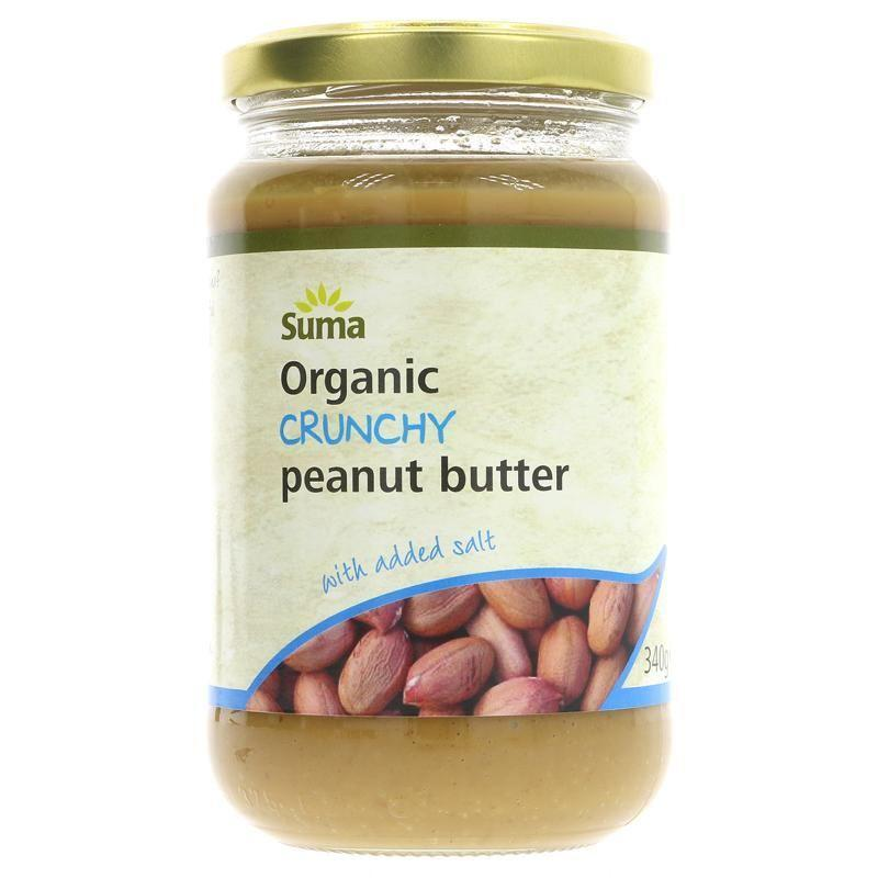 Condiments & Spreads - Suma - Organic Crunchy Peanut Butter With Salt (340g)