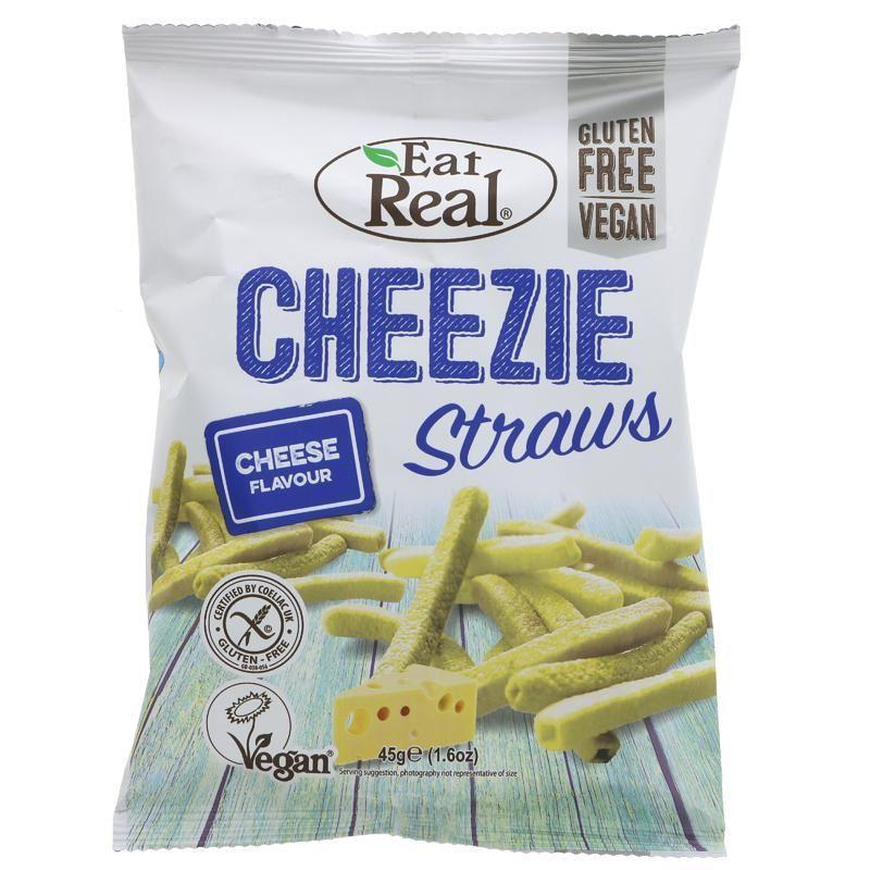 Crisps, Chips & Popcorn - Eat Real - Cheezie Straws (45g)