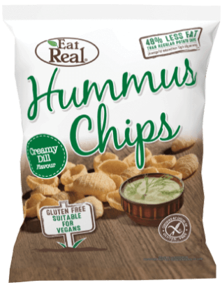 Crisps, Chips & Popcorn - Eat Real Hummus Chips - Creamy Dill (45g)