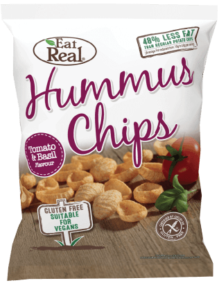 Crisps, Chips & Popcorn - Eat Real Lentil Chips - Tomato & Basil (40g)